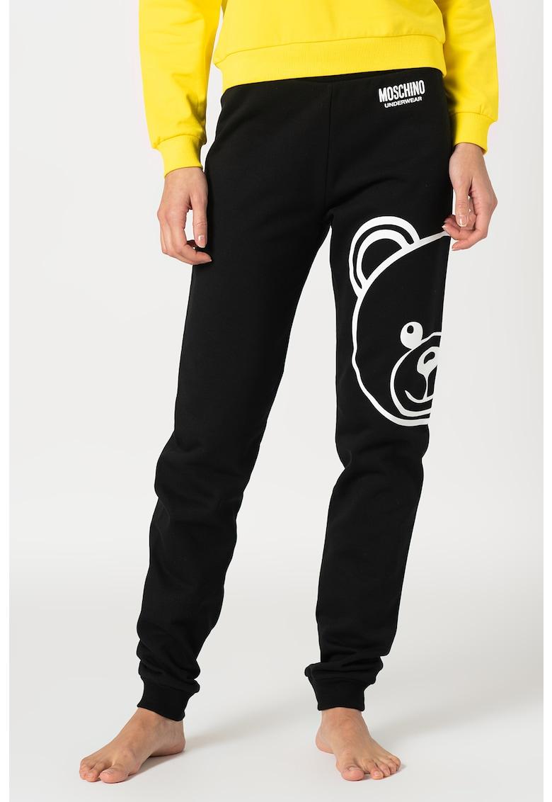 Moschino Pantaloni de pijama cu imprimeu logo