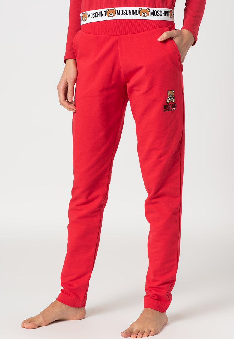 Pantaloni de pijama cu logo brodat