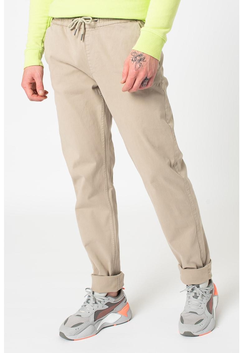 Pantaloni slim fit cu snur de ajustare