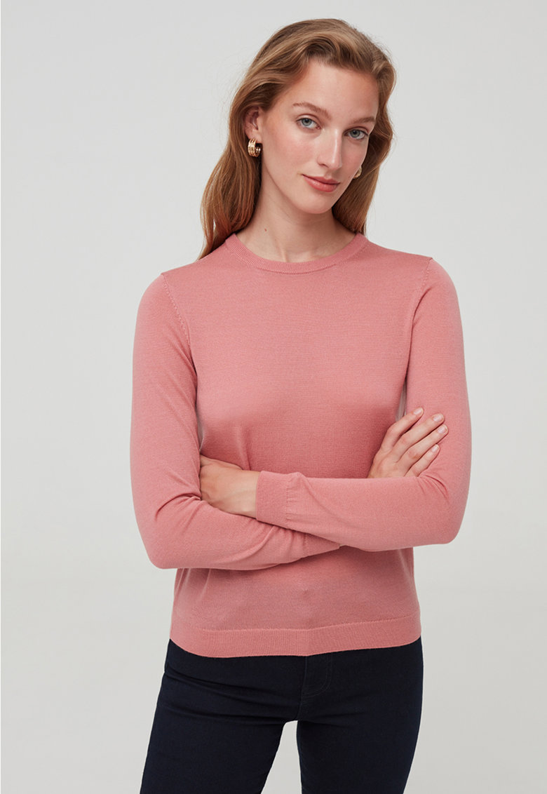 Pulover tricotat fin de lana merinos