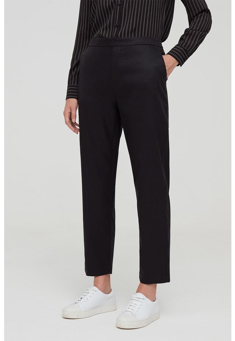 Pantaloni din amestec de lyocell cu banda elastica pe partea din spate fashiondays.ro
