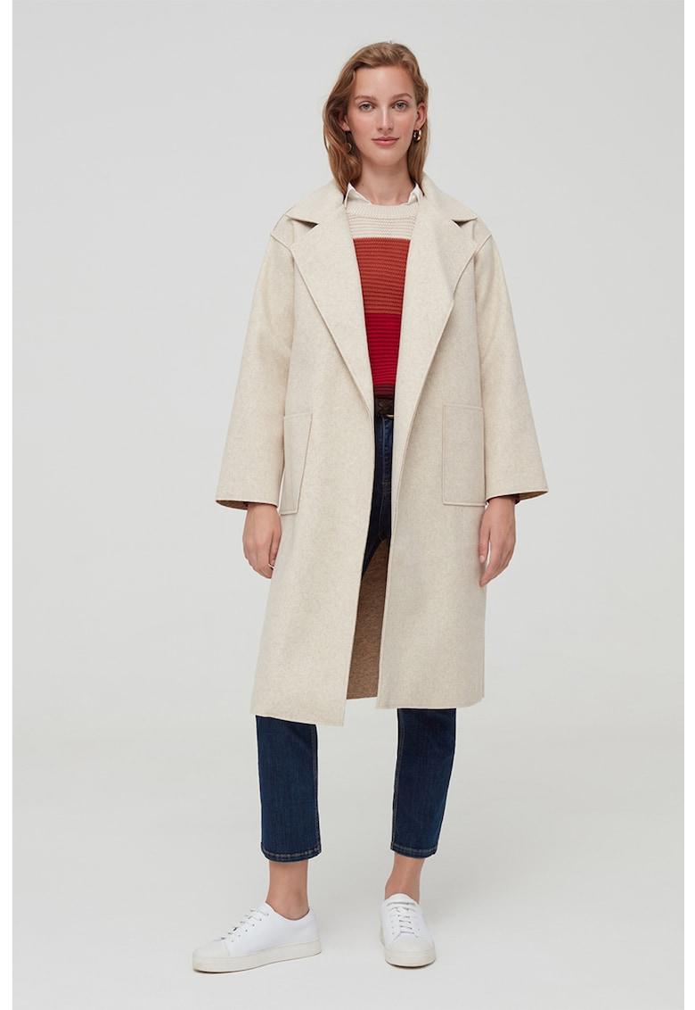 Palton midi cu model petrecut
