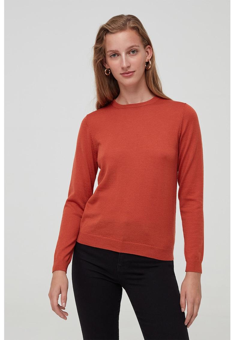 Pulover tricotat fin din lana Merinos imagine