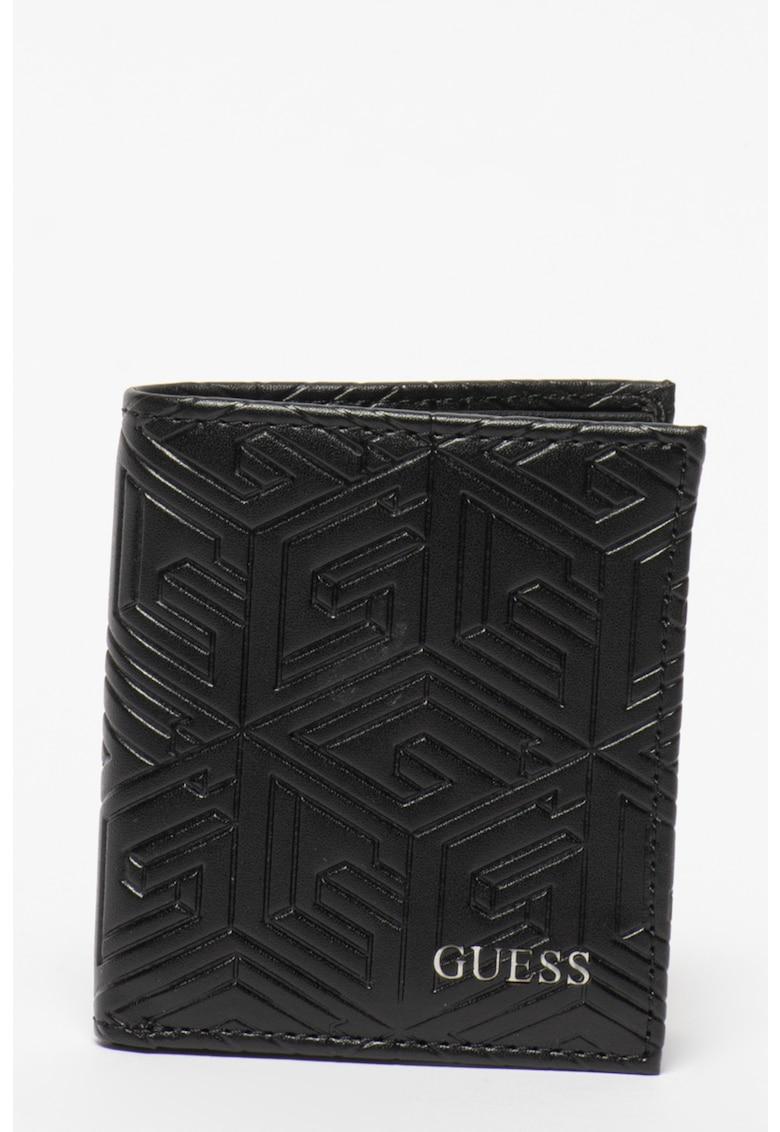 Set de portofel pliabil cu logo stantat si breloc Baldo