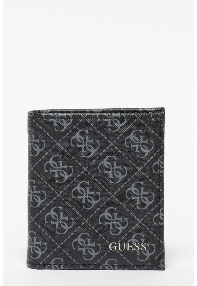 Set de portofel pliabil cu imprimeu logo si breloc Vezzola
