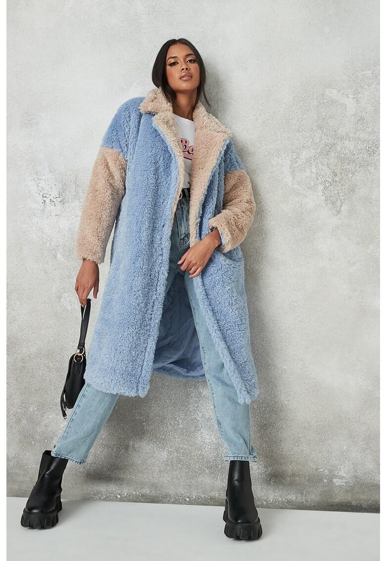 Palton pufos cu cordon