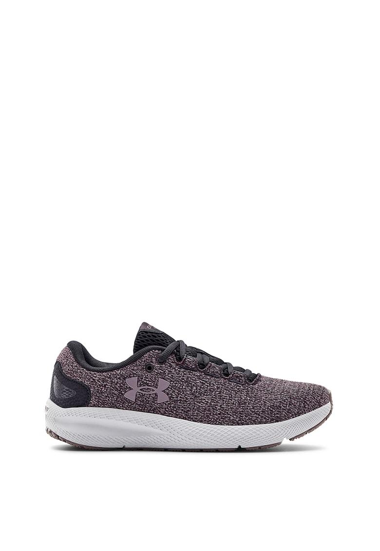 Pantofi de plasa cu aspect tricotat - pentru alergare Charged Pursuit 2