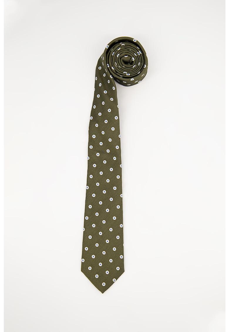 Cravata de matase cu buline
