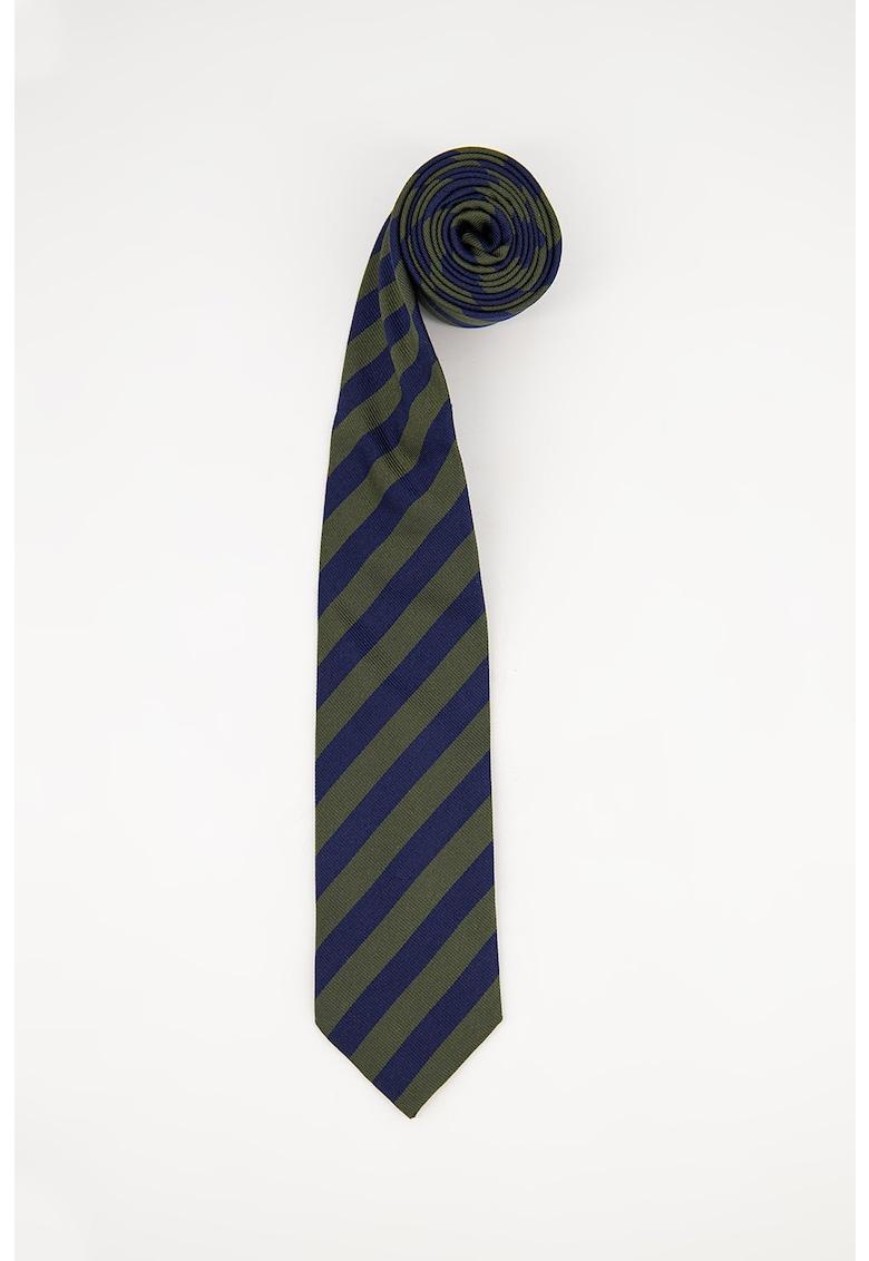 Cravata de matase cu model in dungi imagine
