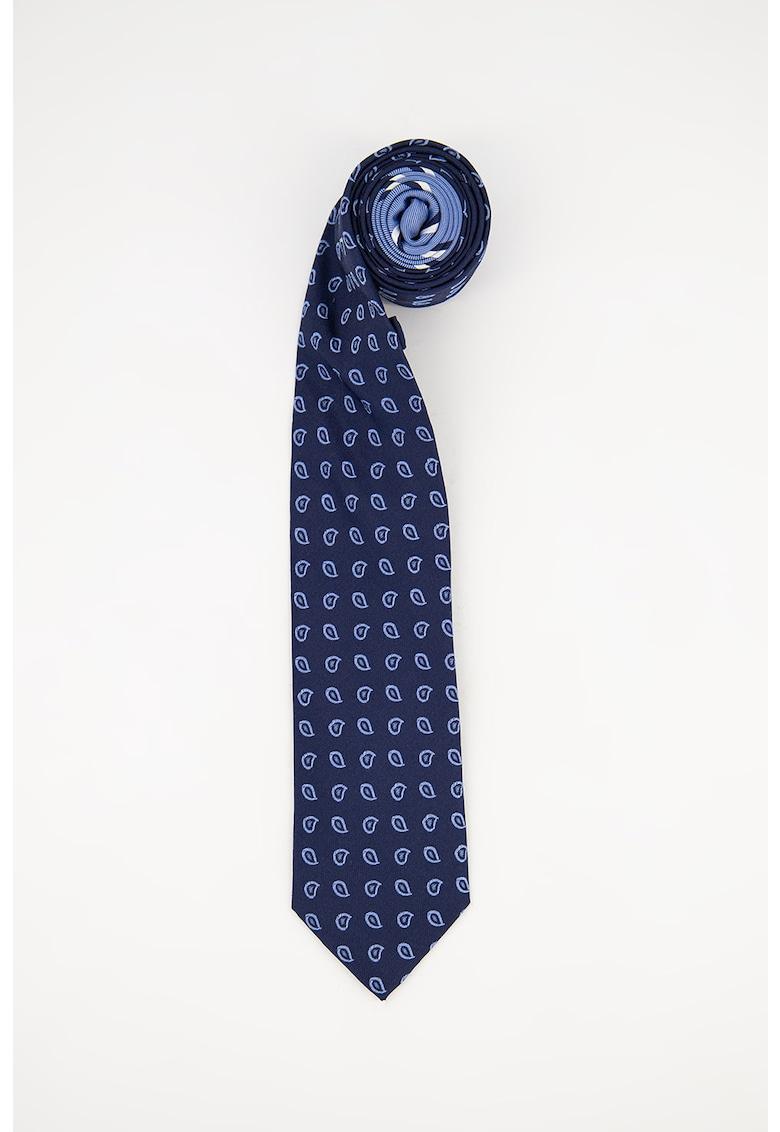 Cravata de matase cu model grafic imagine