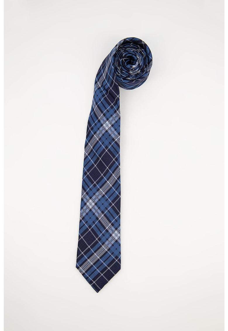 Cravata de matase in carouri imagine