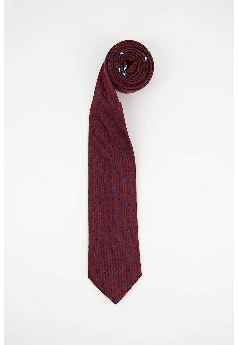 Cravata de matase cu model cu buline