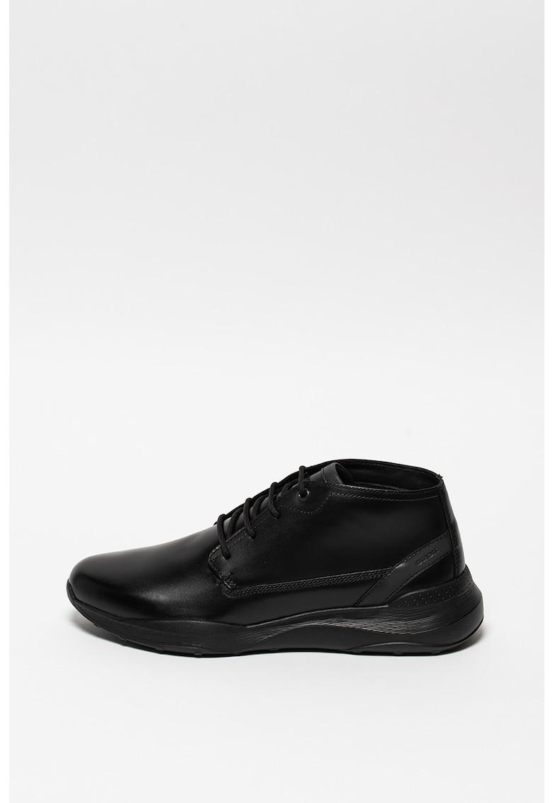 Pantofi sport din piele cu garnituri din piele ecologica Allenio