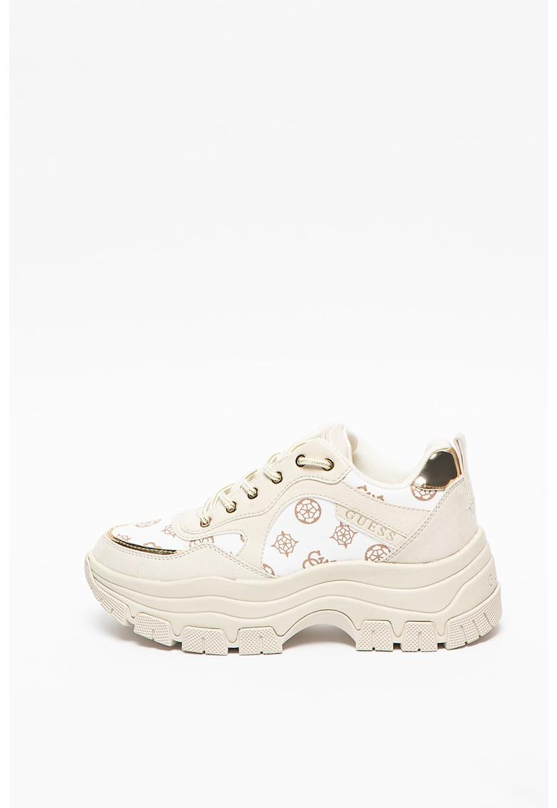 Pantofi sport masivi cu insertii cu monograma