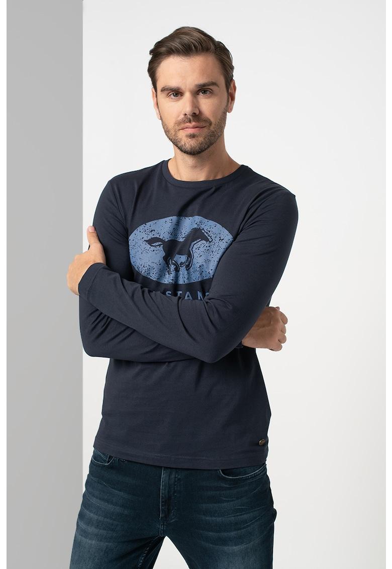Bluza din bumbac cu imprimeu Adrian imagine