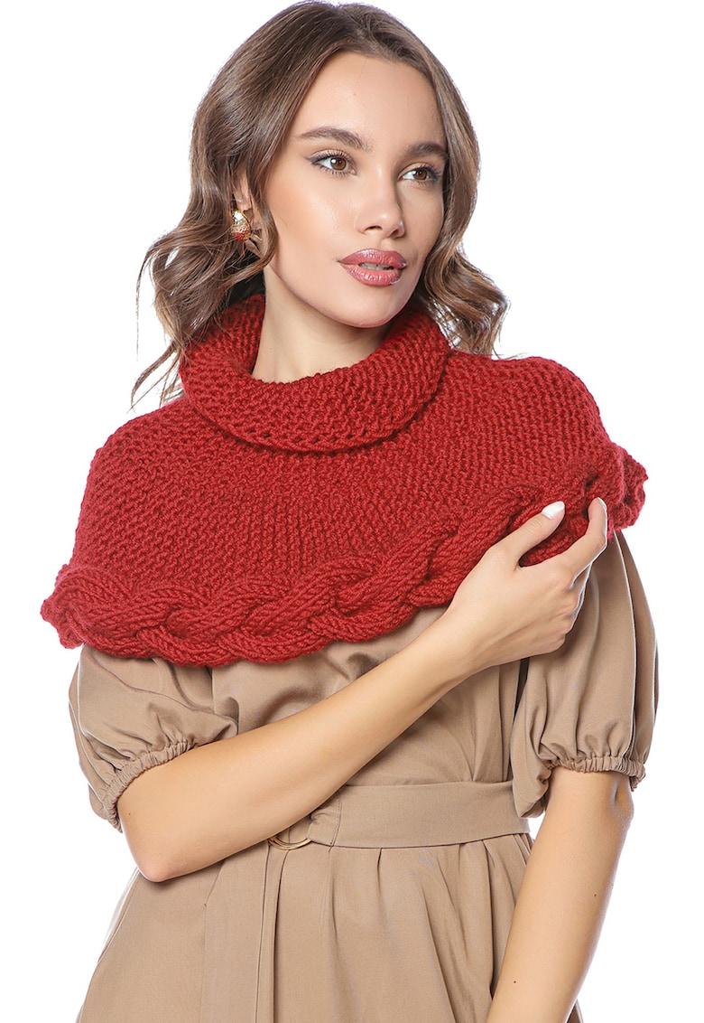 Fular de lana merino - tricotat manual