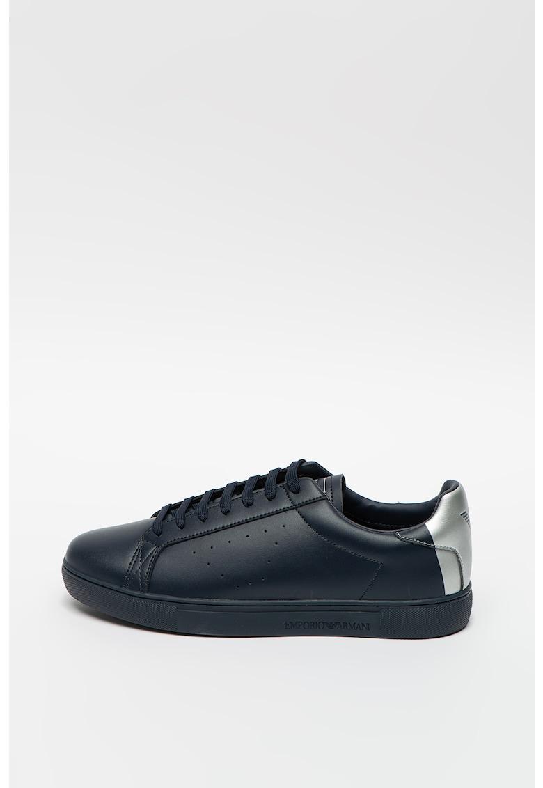 Pantofi sport din piele cu model colorblock