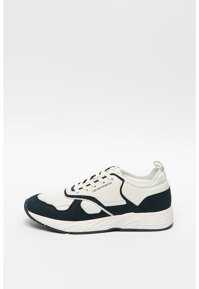 Pantofi sport cu detalii din piele