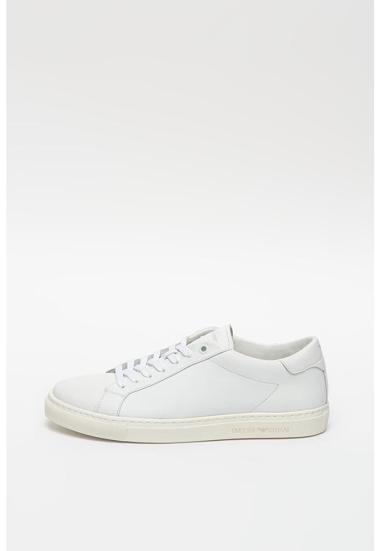 Pantofi sport din piele cu branturi din piele