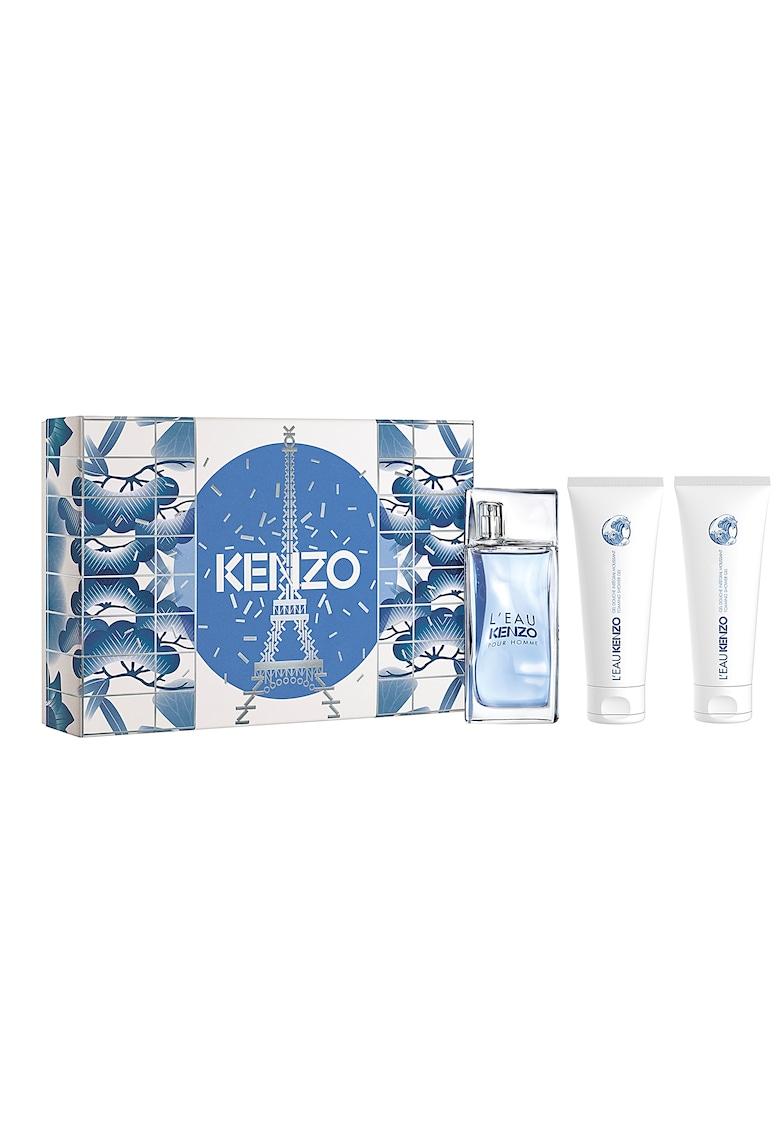 Set L'eau Kenzo - Barbati: Apa de Toaleta - 50 ml + Gel de dus - 2x75 ml imagine