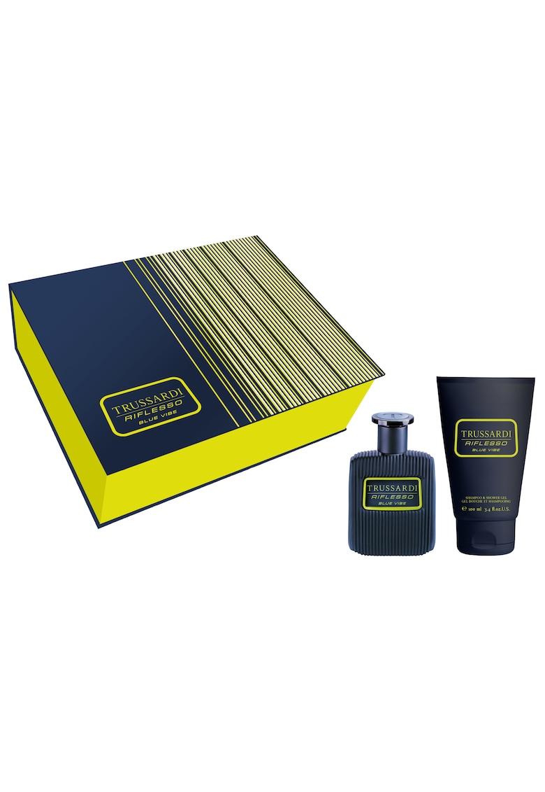 Set Riflesso Blue Vibe Stripes - Barbati: Apa de Toaleta - 50 ml + Gel de dus - 100 ml
