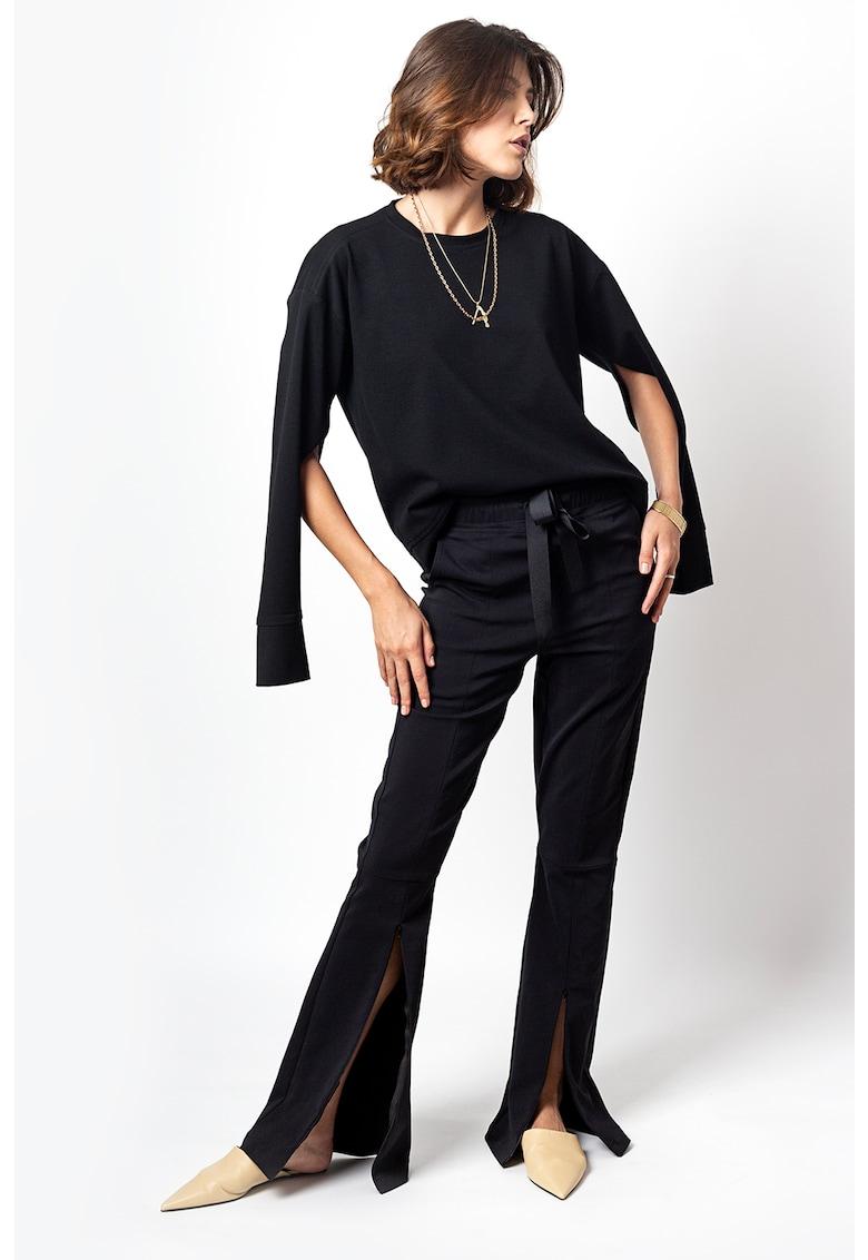Pantaloni evazati cu slit frontal Fantasy poza fashiondays