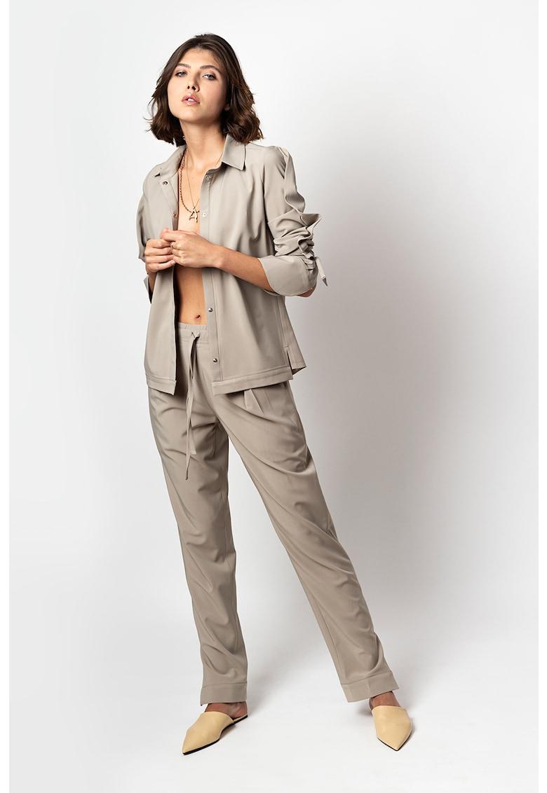 Pantaloni straight fit Elongate Andrea-Szanto imagine 2021
