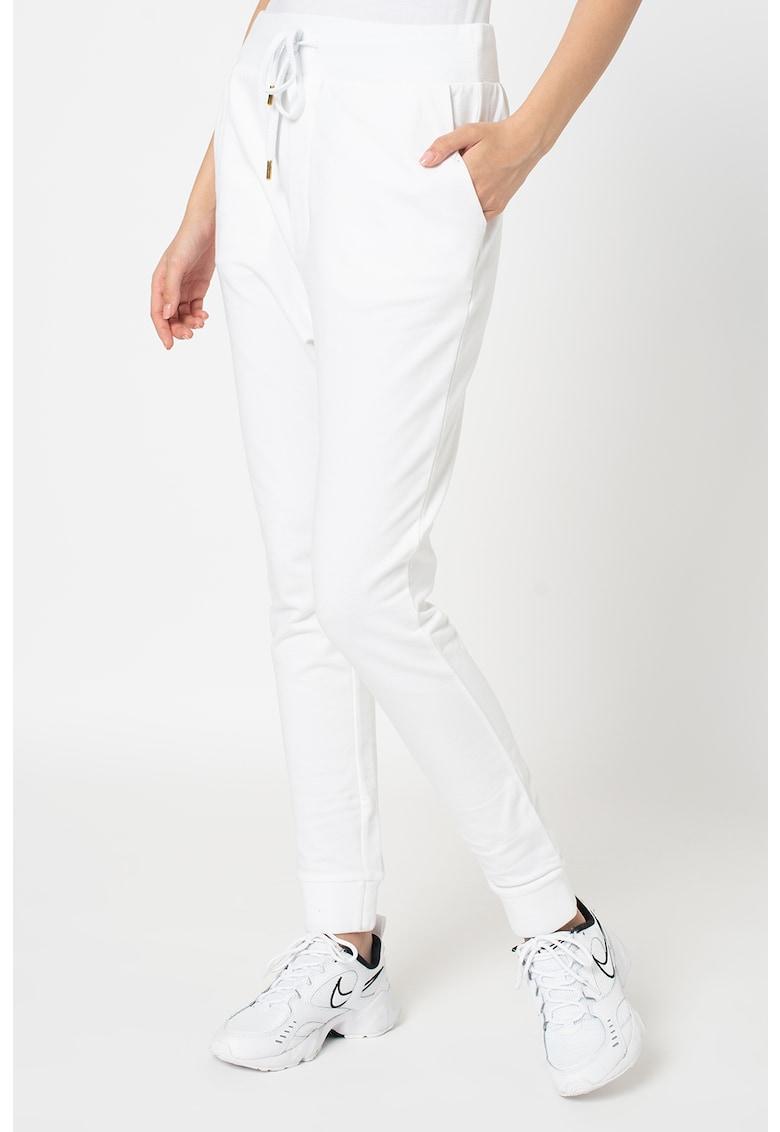 Pantaloni sport conici cu snur de ajustare Love Moschino fashiondays.ro