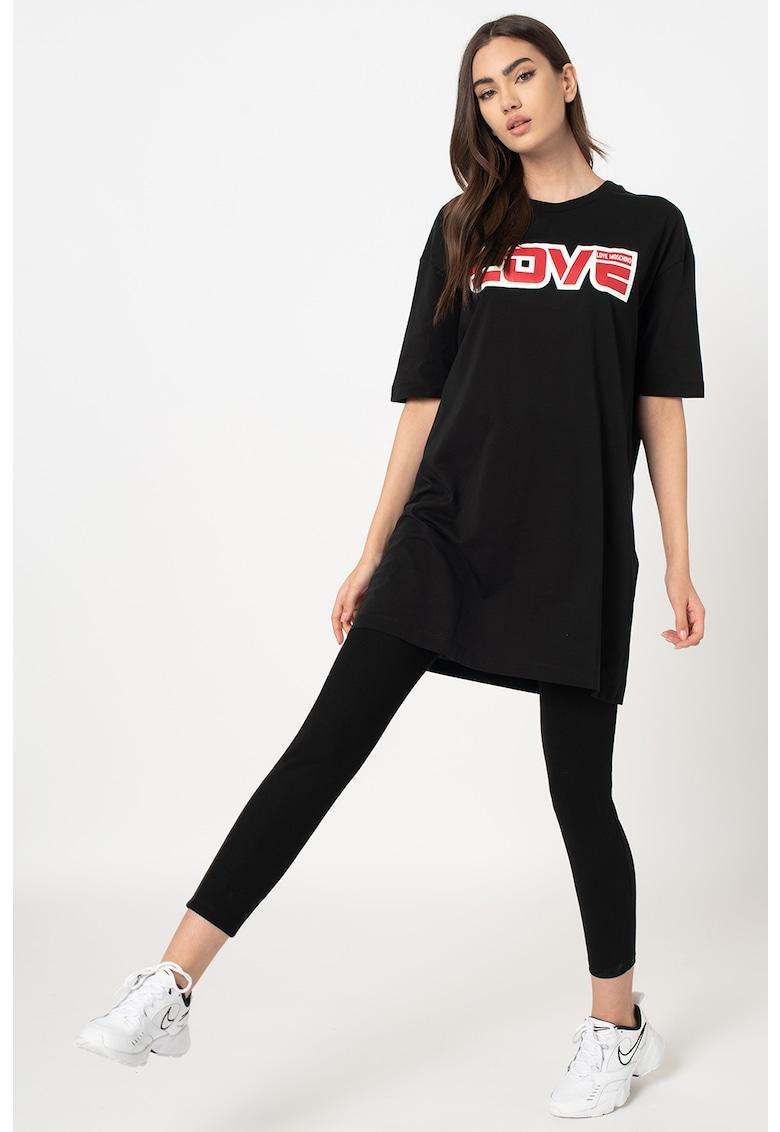 Rochie mini tip tricou cu imprimeu grafic Love-Moschino