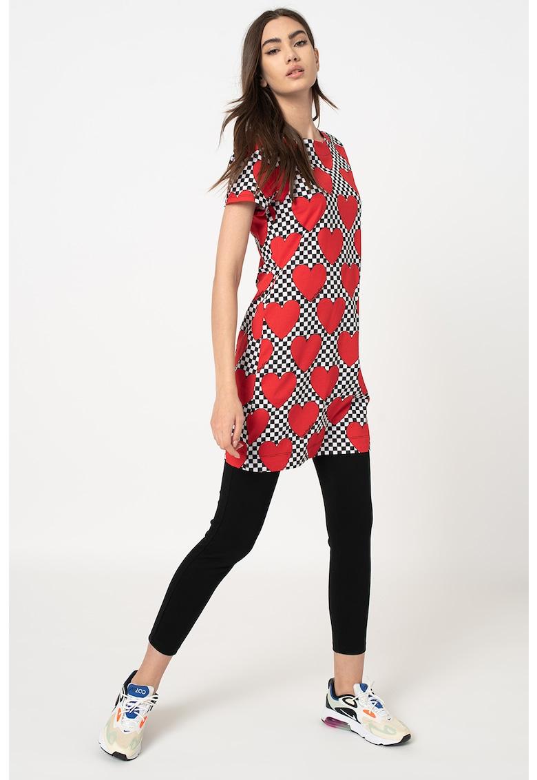 Rochie tip tricou cu croiala in A si diverse modele poza fashiondays