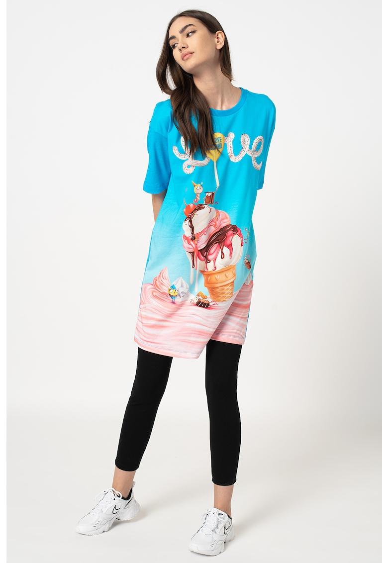 Rochie tip tricou cu imprimeu grafic