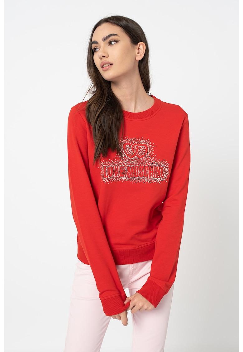 Bluza sport cu logo si strasuri
