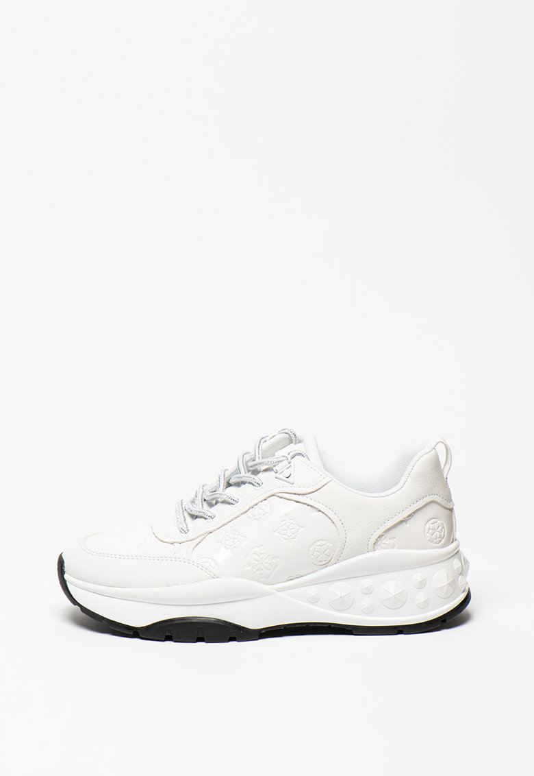 Pantofi sport de piele ecologica cu detalii logo stantate