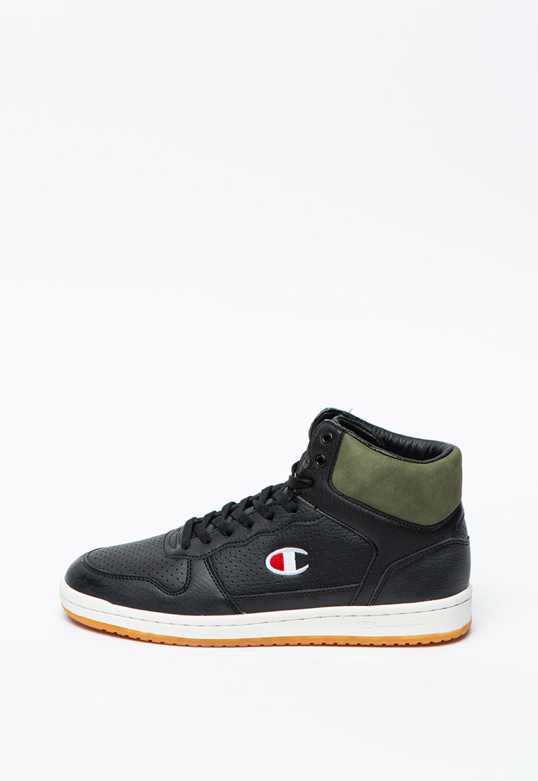 Pantofi sport mid-high de piele ecologica cu perforatii decorative Chicago imagine promotie