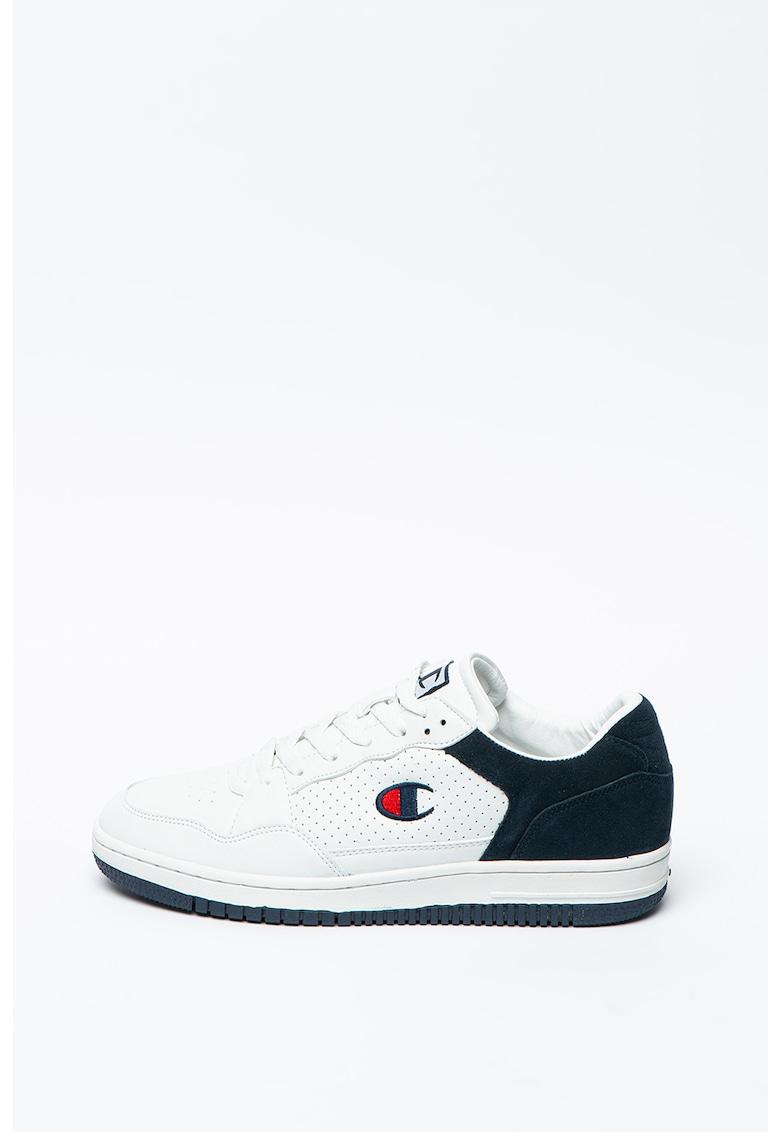 Pantofi sport de piele ecologica cu garnituri de piele intoarsa Cleveland imagine promotie
