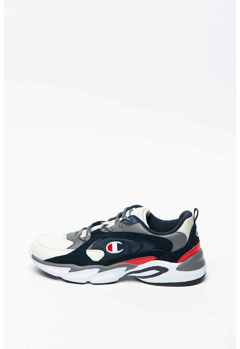 Pantofi sport cu model colorblock cu garnituri de piele intoarsa Tampa