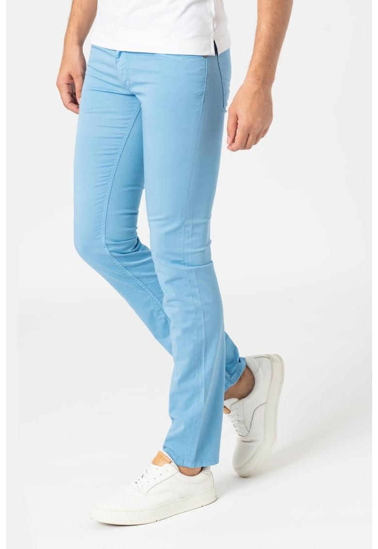 Pantaloni slim fit cu talie joasa imagine