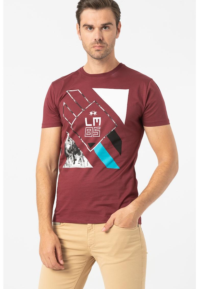 Tricou de bumbac cu imprimeu grafic
