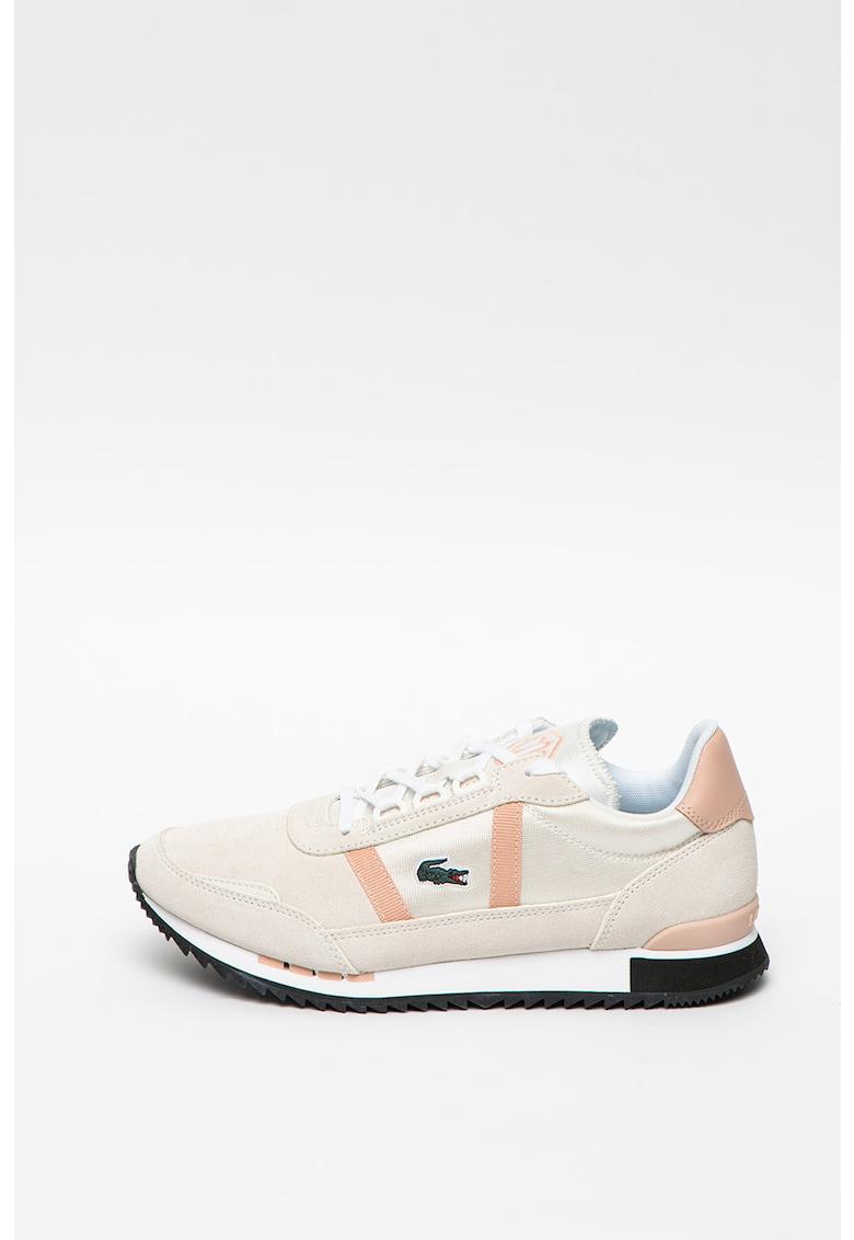 Pantofi sport de piele intoarsa cu insertii de piele si material textil Partner Retro