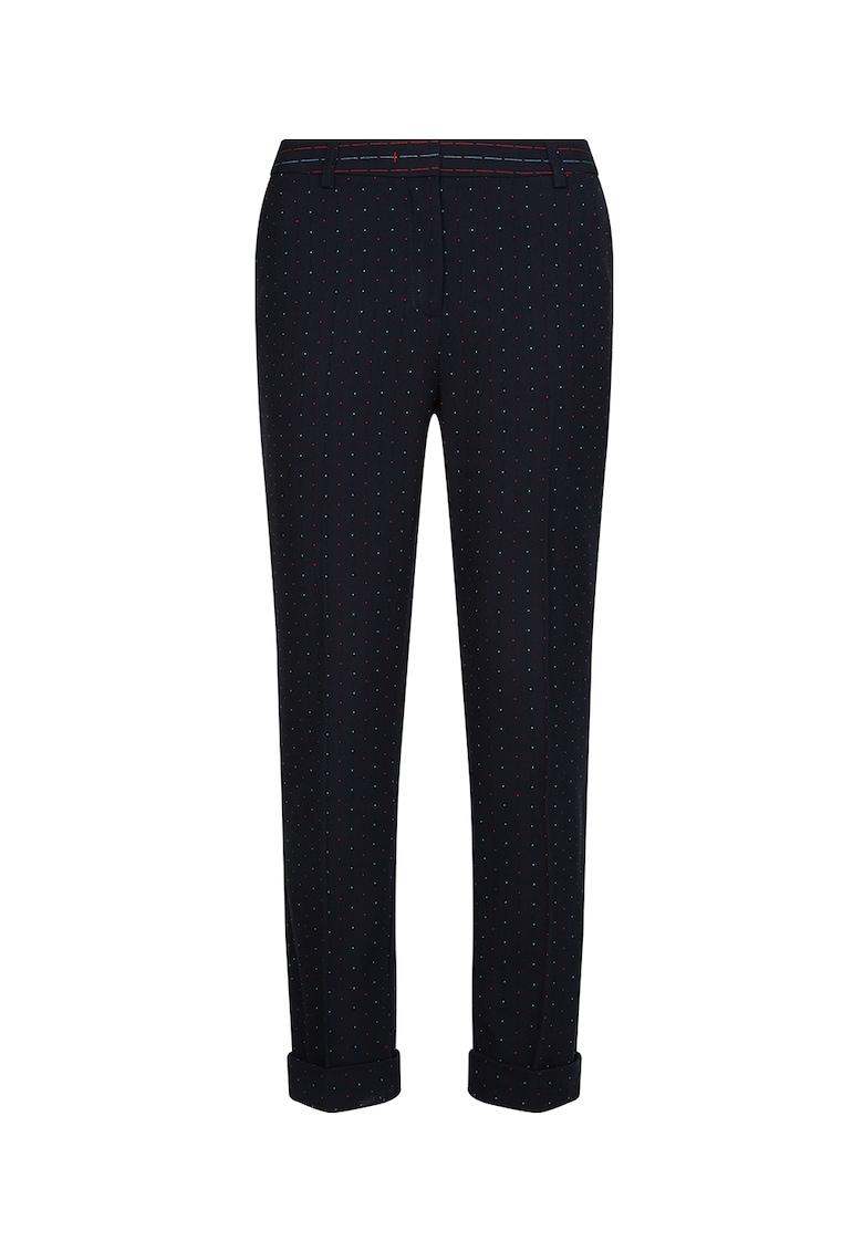 Pantaloni slim fit cu imprimeu