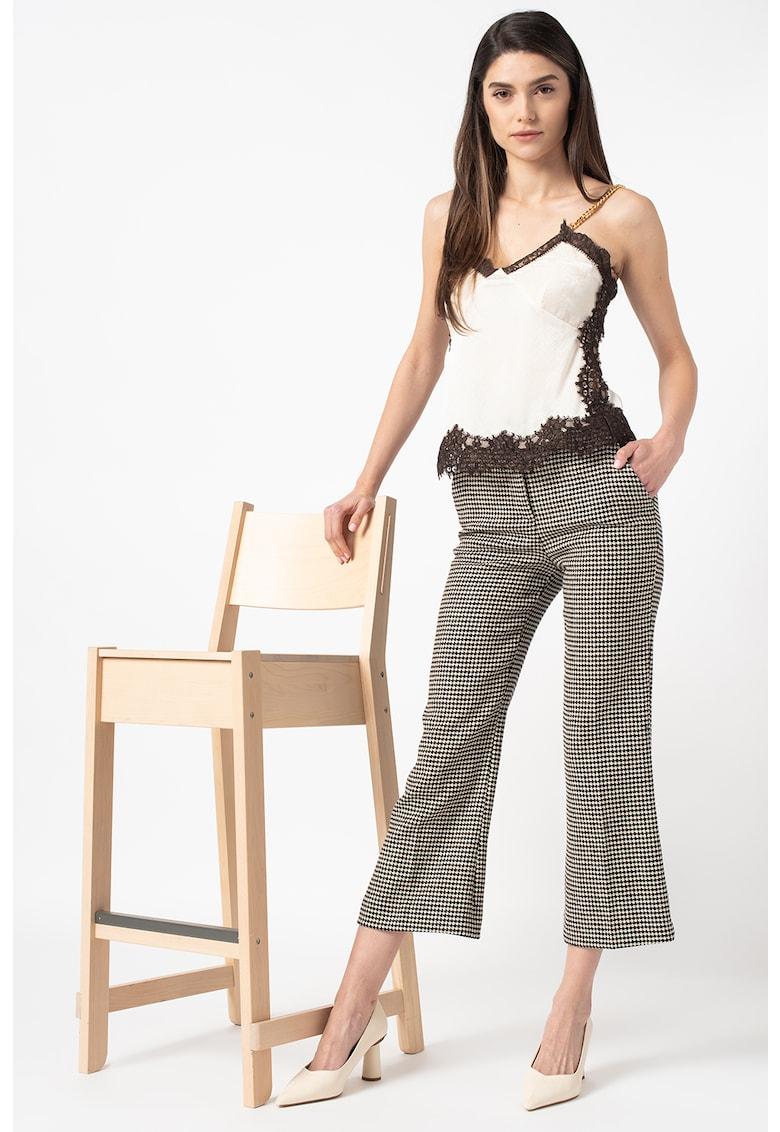 Pantaloni cu croiala kick-fared din amestec de lana Globo imagine