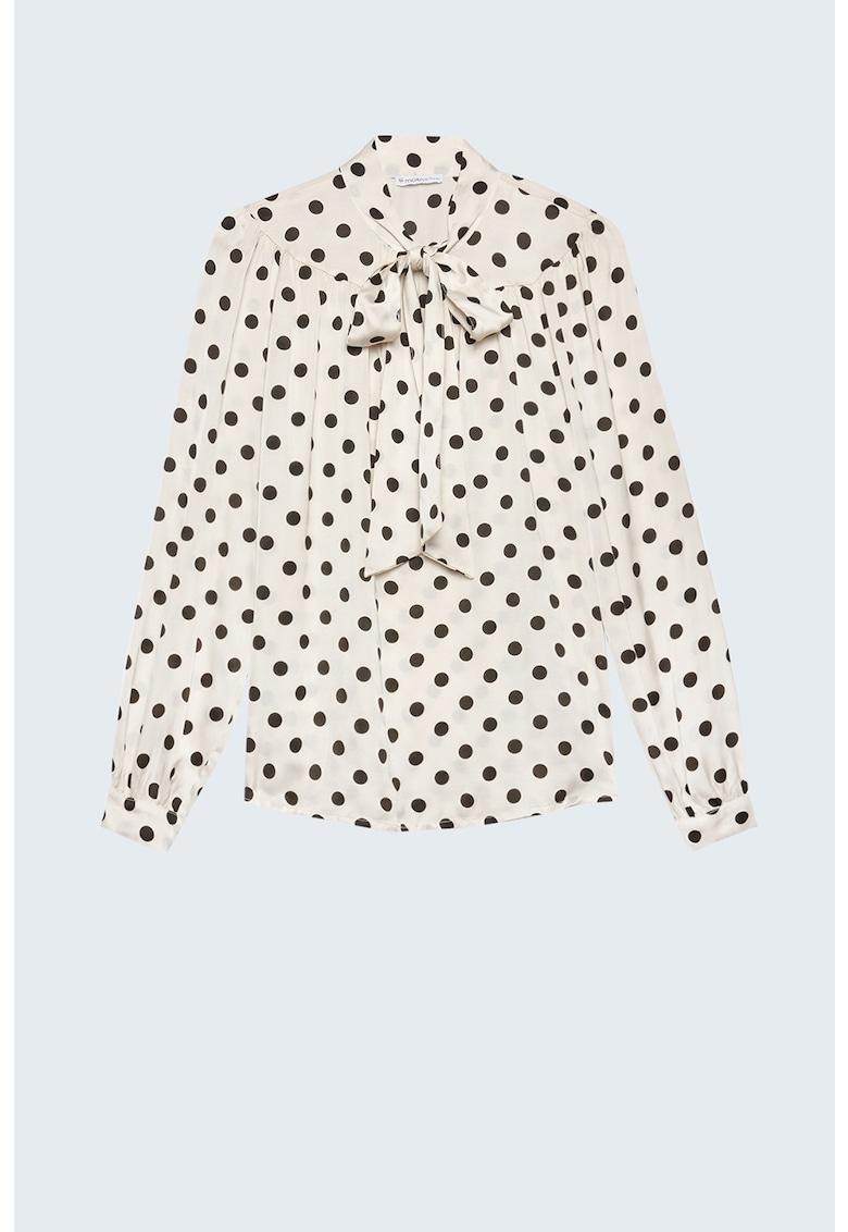 Bluza cu funda din panglici si buline imagine