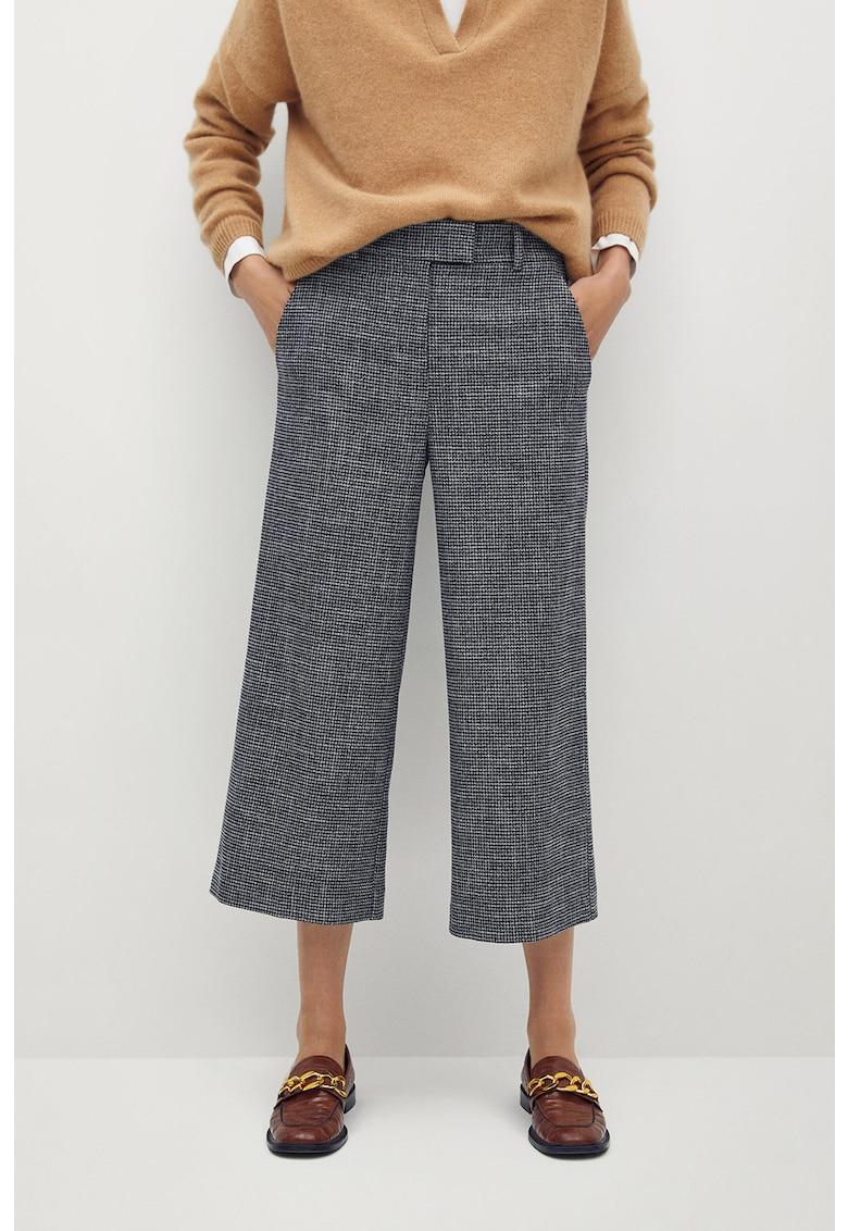 Pantaloni culotte cu model in carouri Bermu