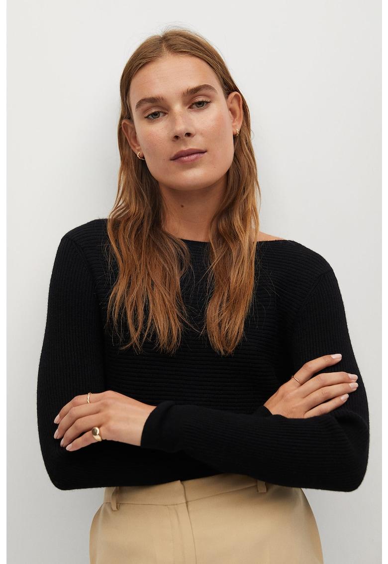 Pulover cu design incrucisat pe spate Margot poza fashiondays