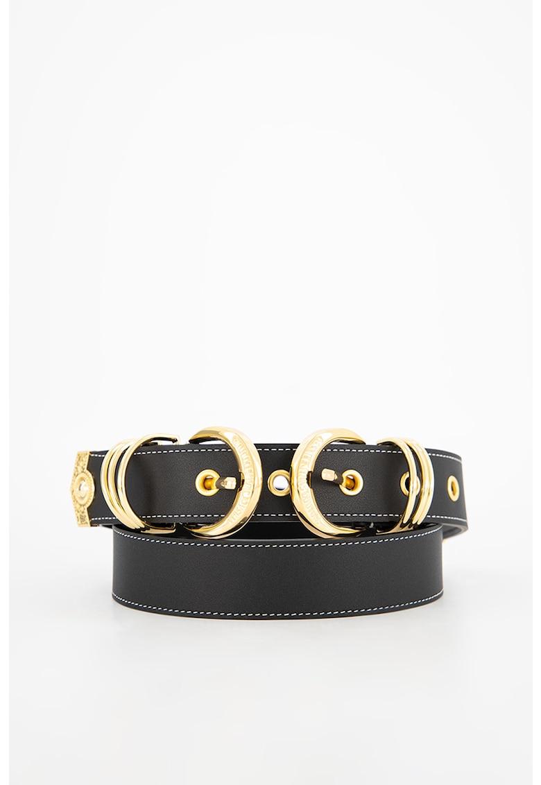 Curea de piele cu logo Versace Jeans Couture fashiondays.ro