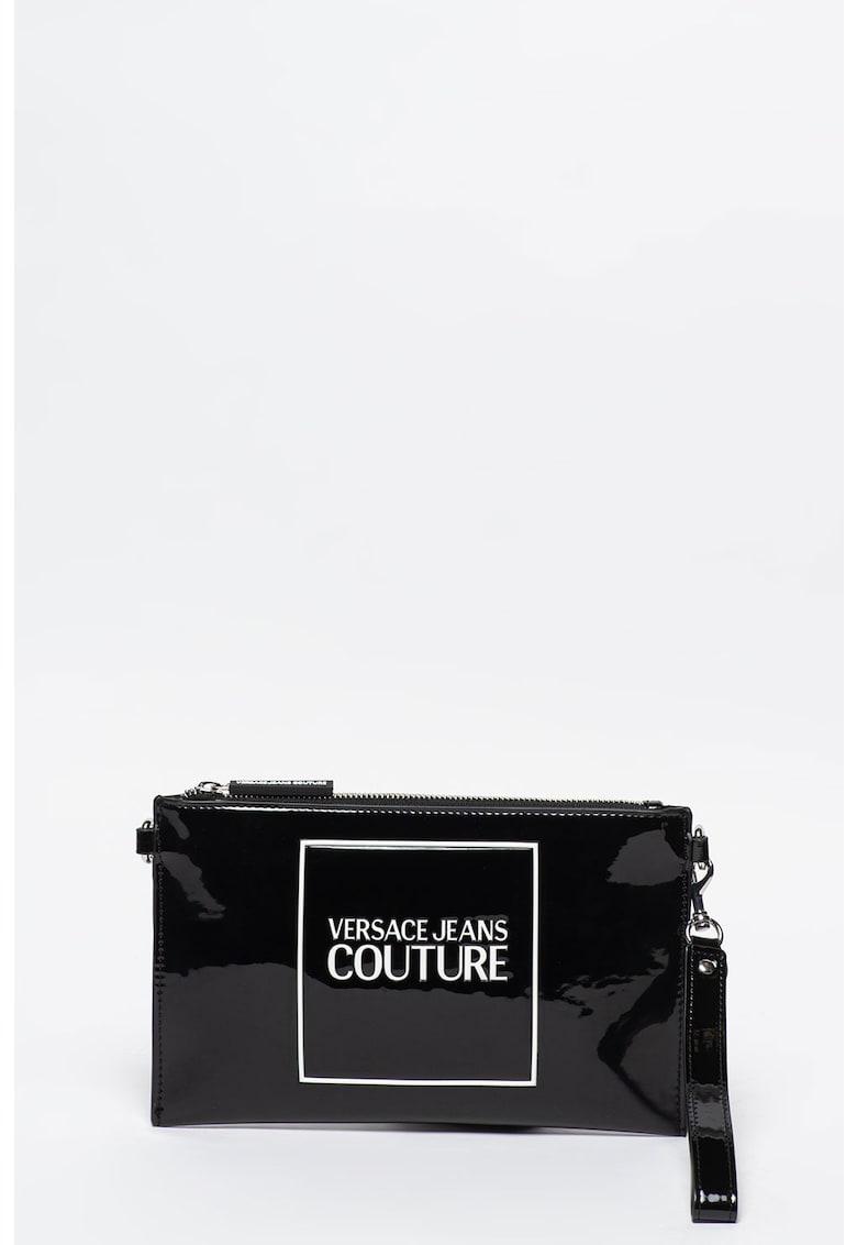 Geanta crossbody de piele ecologica cu aspect lacuit Versace-Jeans-Couture imagine 2021