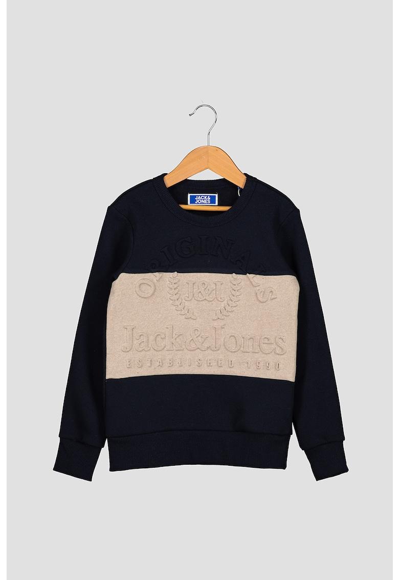 Bluza sport cu model colorblock si model in relief