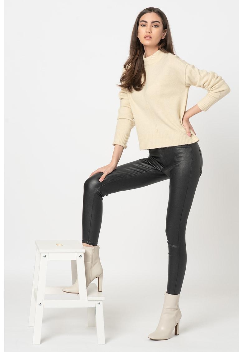 Pantaloni skinny cu aspect peliculizat New Thunder