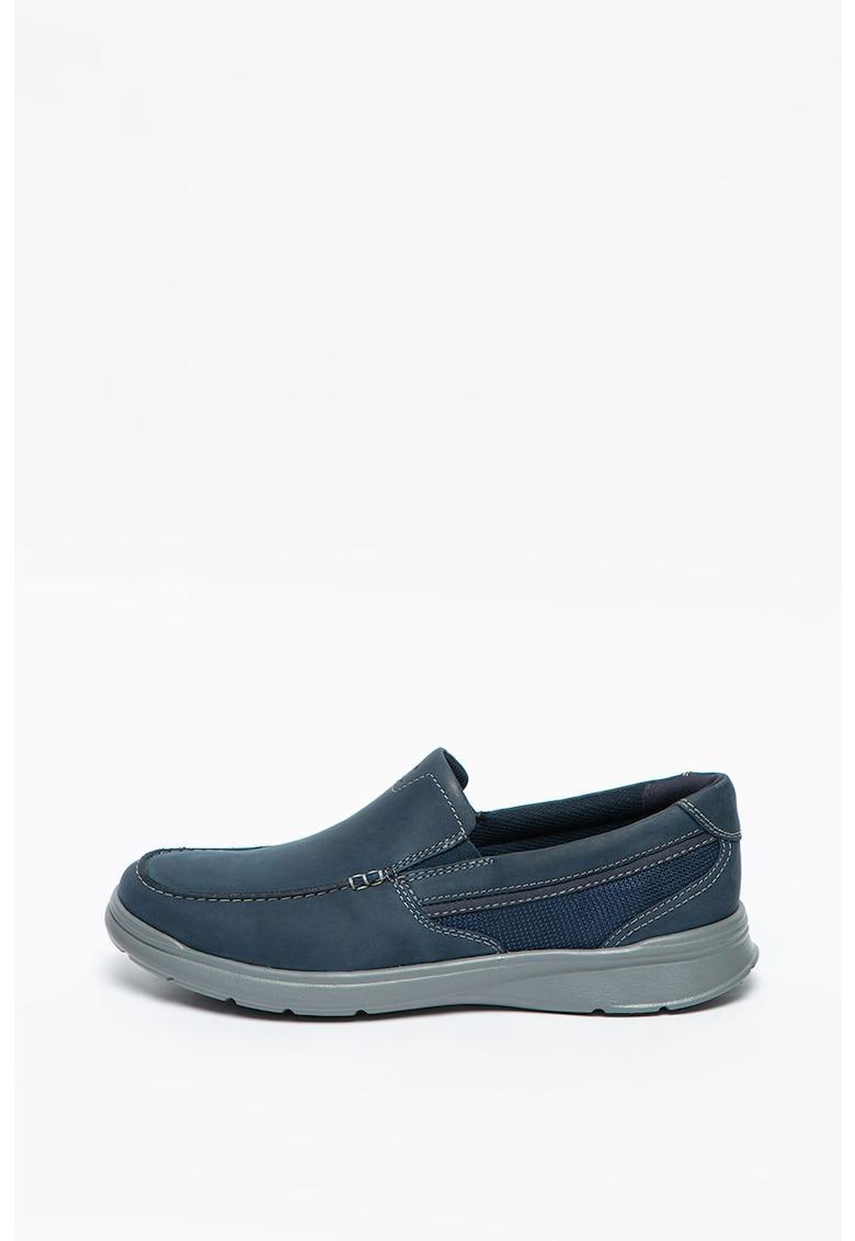 Clarks Pantofi loafer de piele nabuc si garnituri din material textil Cotrell