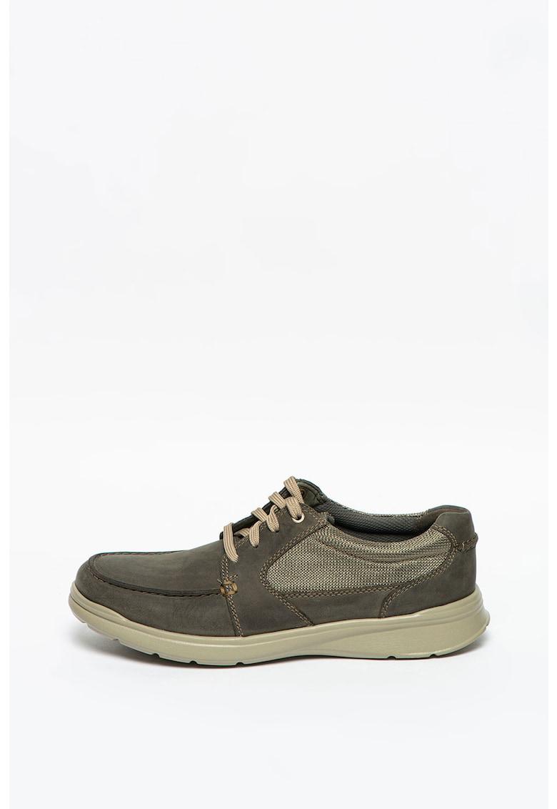 Pantofi casual de piele nabuc cu garnituri din material textil Cotrell Lane imagine promotie